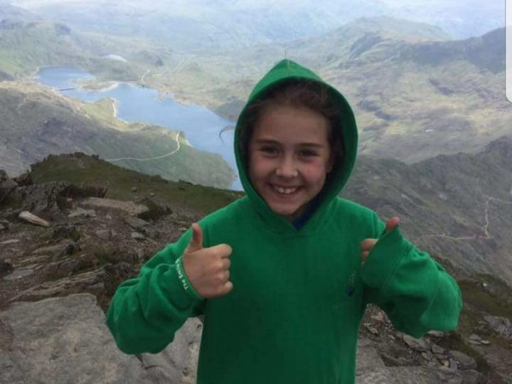 Olivia reaches incredible heights for the Smile of Arran