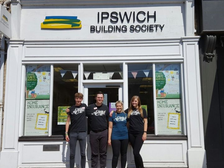 Local support from the Ipswich Building Society