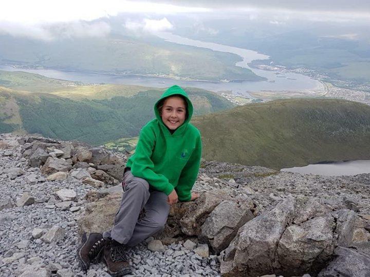 Olivia's charity mountain challenge